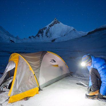 Jon Griffith Mountain Climber camping near Drifica Peak