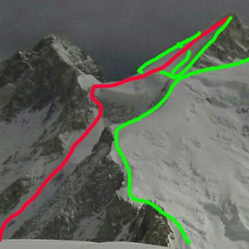 GII new route, Karakoram , Gasherbrum II new route